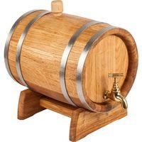 Beczka dębowa BIOWIN 370010 z kranem mosiężnym (10 litrów) + DARMOWY TRANSPORT! z kategorii Pozostałe przybory kuchenne