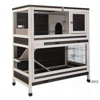 Lounge, klatka dla małych zwierząt - Szary / biały: dł. x szer. x wys.: 107,5 x 58 x 118 cm ( Pakiet 2 *)
