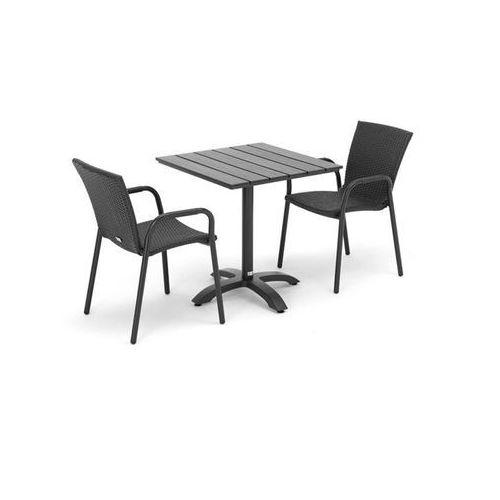 Zestaw mebli tarasowych 2 krzesła rattanowe + kwadratowy stół, kup u jednego z partnerów