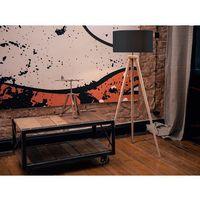 Lampa stojąca - podłogowa w kolorze czarnym - oświetlenie - NITRA