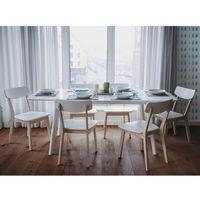 Stół biały - do kuchni - do jadalni - rozkładany - 150/195 cm - sanford marki Beliani