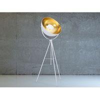 Lampa stojąca - podłogowa w kolorze białym - oświetlenie - thames marki Beliani