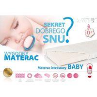 Hevea Materac lateksowy  baby aloe 120x60 + ochraniacz 2w1 gratis!! lateks z certyfikatem euro-latex i atestem higienicznym pzh!
