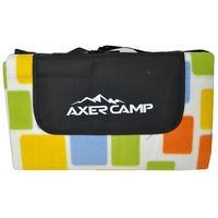 Koc Piknikowy / Plażowy AXER SPORT 180 x 150 cm - Kratka - Niebieski ||Żółty ||Zielony ||Multicolor