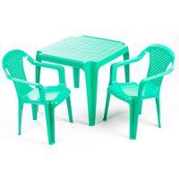 stolik i dwa krzesła dla dzieci, zielone marki Grand soleil