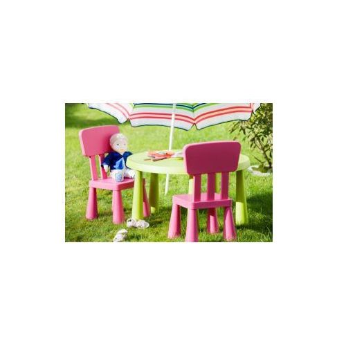 IKEA stolik okrągły + 2 krzesełka MAMMUT mamut RÓŻ