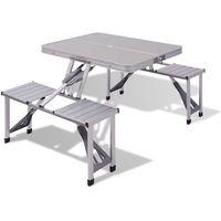 aluminiowy stół piknikowy marki Vidaxl