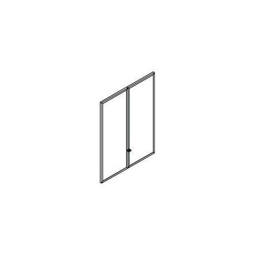 Drzwi szklane HS300, szkło mleczne