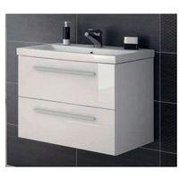 ELITA SET Kwadro White szafka + umywalka Milos 60 (ceramiczna) 164669