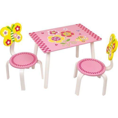 Krzesełka i stolik dla dzieci zestaw mebli leonor wyprodukowany przez Small foot design