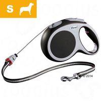 Smycz dla psa Flexi Vario S antracytowa, 8 m - Lampka LED-Lighting-System