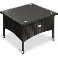 Wideshop Stół stolik z polirattan ogrodowy kawowy 42x58x58