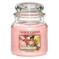 Yankee Candle Świeca Zapachowa - Średnia - Fresh Cut Roses®