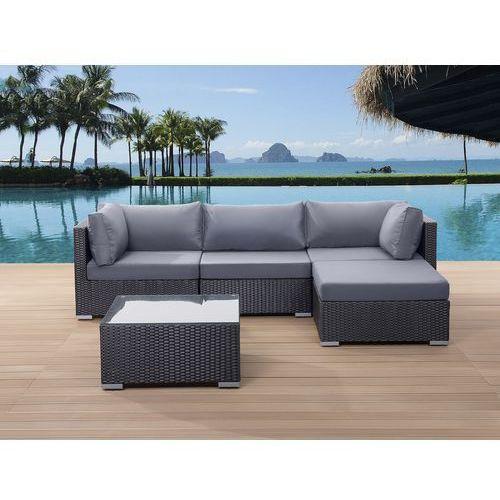 Meble ogrodowe czarne - rattanowe - sofa rattanowa - sano wyprodukowany przez Beliani