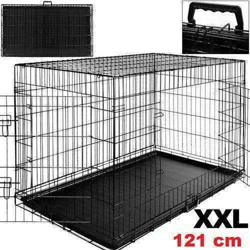 DUŻA KLATKA METALOWA KOJEC DLA PSÓW PSA 121x76x81 - 121 cm - produkt z kategorii- Pozostałe meble ogrodowe