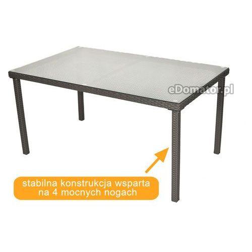Edomator.pl Stół ogrodowy z technorattanu malaga, kategoria: stoły ogrodowe