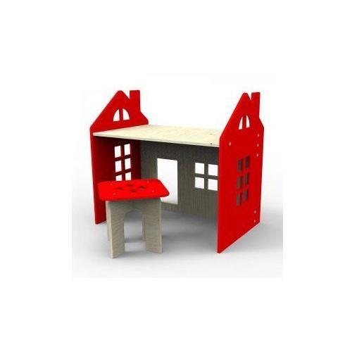 Planeco Drewniane biurko czerwone, kategoria: biurka