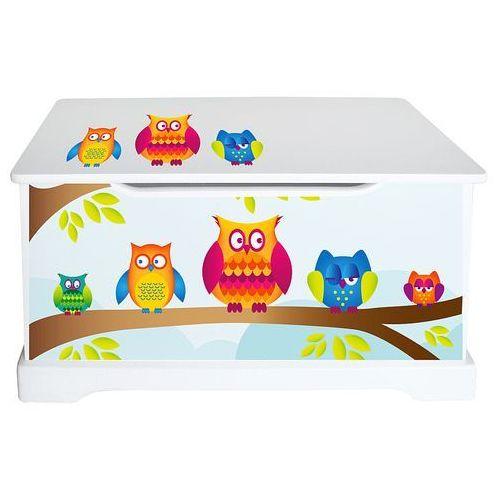 """Pojemnik na zabawki, """"sowy w leśnej szkółce"""" - drewniane meble dla dzieci wyprodukowany przez Maxima (dystrybutor)"""