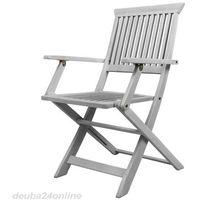 Wideshop Białe meble drewniane ogrodowe 4 krzesła