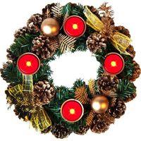 Stroik świąteczny 4 x świeca led ozdoba świąteczna od producenta Wideshop
