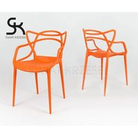 kr013 pomarańczowe krzesło - pomarańczowy marki Sk design