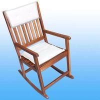 Wideshop Fotel krzesło na biegunach do ogrodu bujane