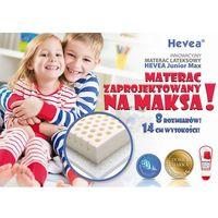 Materac lateksowy  junior max 160x90 + 2 gratisy czapka z daszkiem i poduszka!! marki Hevea