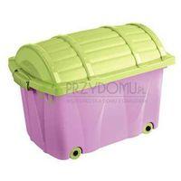 Skrzynia Pirata kufer liliowy limonkowy OK-0571