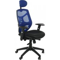 Fotel biurowy gabinetowy KB-8905/NIEBIESKI - krzesło obrotowe