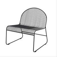 Bloomingville Fotel friend lounge chair, czarny -