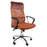 Giosedio Fotel biurowy bsx brązowy
