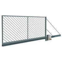 Brama przesuwna automatyczna Polbram Steel Group Ofelia ocynk 4 0 x 1 5 m lewa
