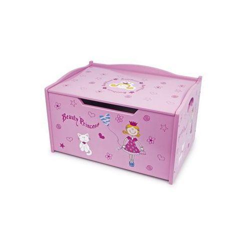 Drewniana skrzynia na zabawki dla dzieci - Księżniczka