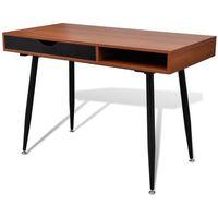 Vidaxl  brązowe biurko pod komputer (8718475882572)