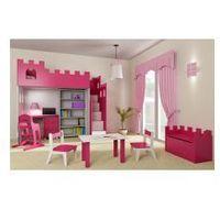 Zestaw mebli dziecięcych ZAMEK, różowy, C576-93698