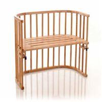 original oddychające łóżeczko dostawne z naoliwionego drewna bukowego marki Tobi babybay