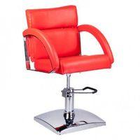 Fotel fryzjerski dino br-3920 czerwony marki Beauty system