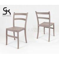 Sk design  kr032 kawa z mlekiem krzesło polipropylenowe retro - kawa z mlekiem