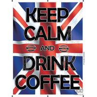 Obraz KEEP CALM AND DRINK COFFEE - FLAGA BRYTYJSKA PT161T2, PT161T2