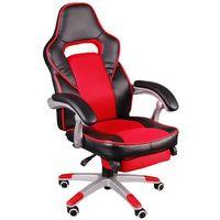 Fotel biurowy fbg czarno-czerwony marki Giosedio