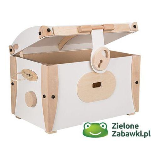 Kufer duży biały - pojemnik na zabawki, Gepetto - drewniane meble dla dzieci, kup u jednego z partnerów