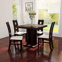 Rozkładany kwadratowy stół 80x80 do 200 + 4 drewniane krzesła marki Sandow