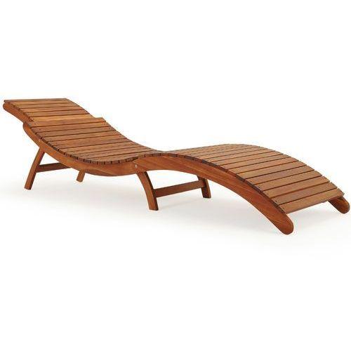 Wideshop Drewniany leżak ogrodowy ergo z drewna akacjowego, kategoria: leżaki ogrodowe