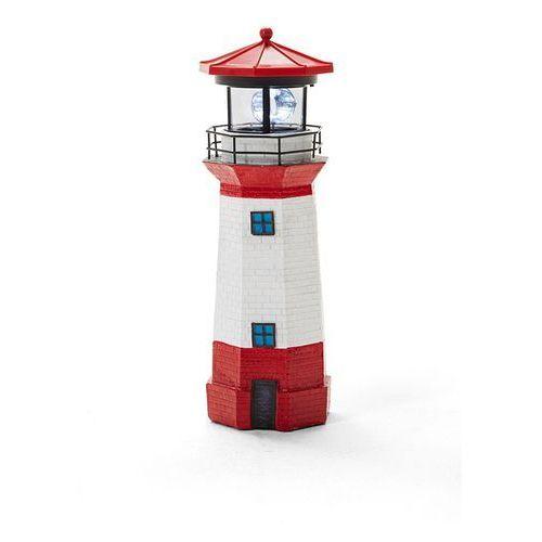"""Lampka solarna """"latarnia morska""""  czerwono-biały marki Bonprix"""