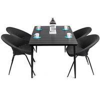 Zestaw technorattanowy  leon (stół + 6 krzeseł) marki Homekraft
