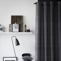 Room99 Zasłona today b&w studio chambray 140x240 rom542 - odbiór w 2000 punktach - salony, paczkomaty, stacje orlen