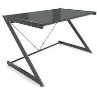 Nowoczesne biurko szklane DODO 122cm - czarne