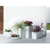Doniczka biała - donica na balkon - ogrodowa - 46x46x16 cm - MURITZ