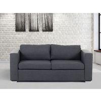 Sofa ciemnoszara - trzyosobowa - kanapa - sofa tapicerowana - helsinki marki Beliani