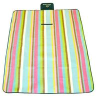 Koc Piknikowy / Plażowy AXER SPORT 150 x 130 cm - Paski - Niebieski ||Zielony ||Multicolor ||Różowy
